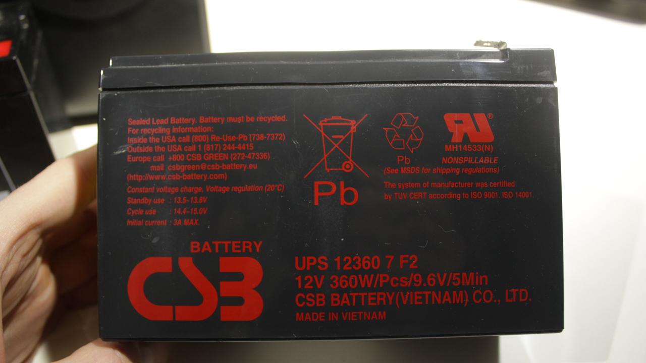 аккумулятор csb 12360 7 F2