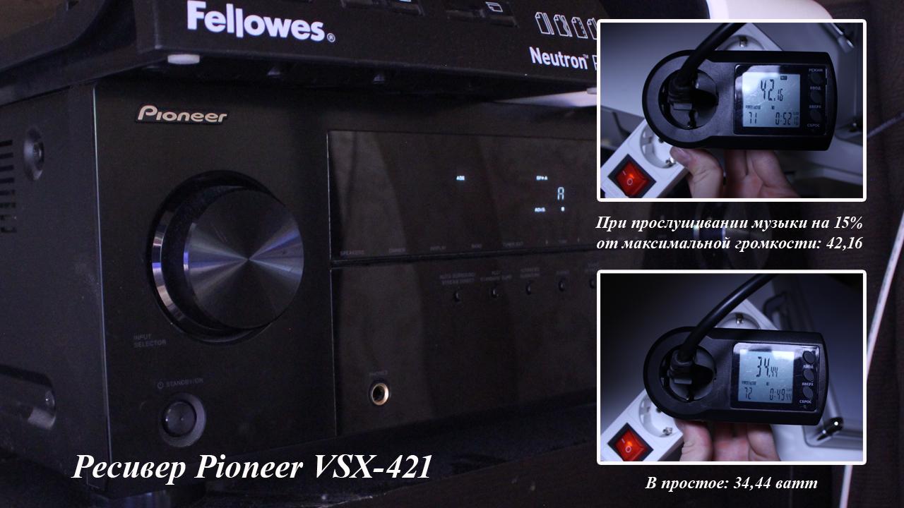 Мощность ресивера Pioneer VSX-421