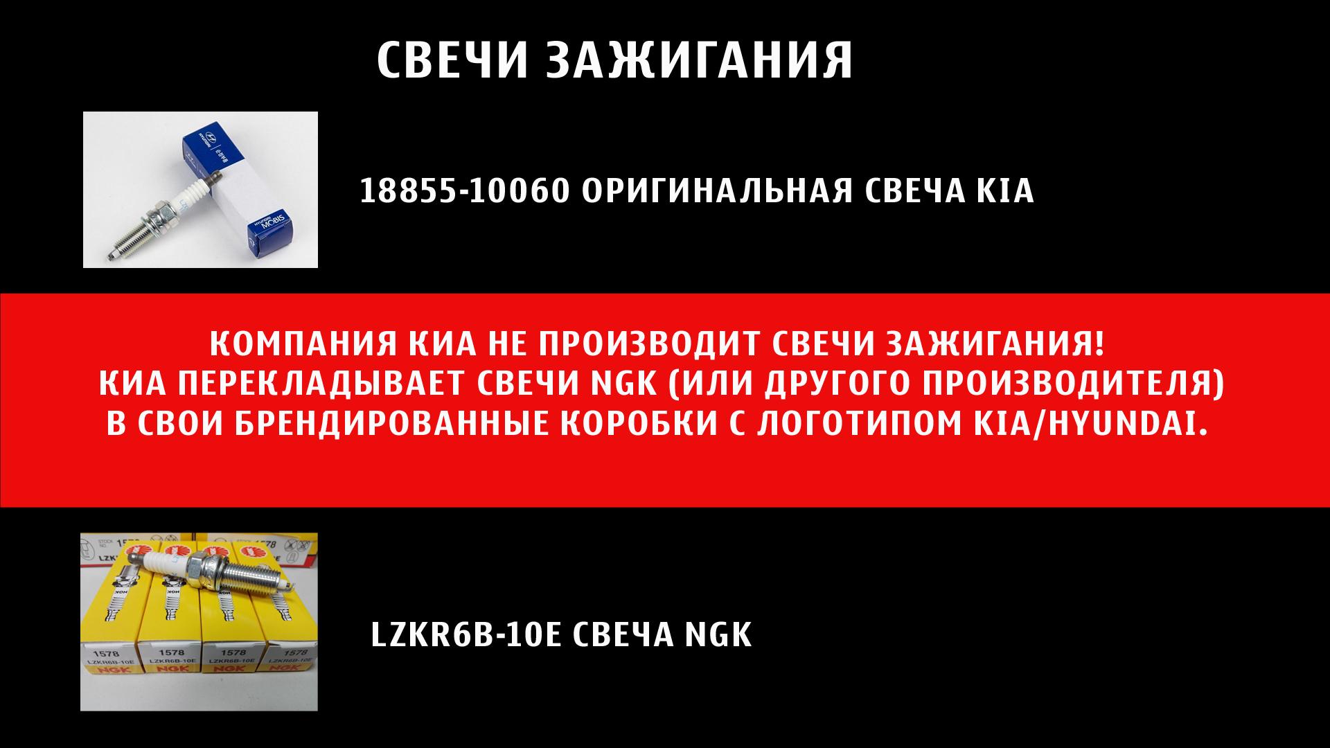Оригинальные свечи киа сид 2012-2017