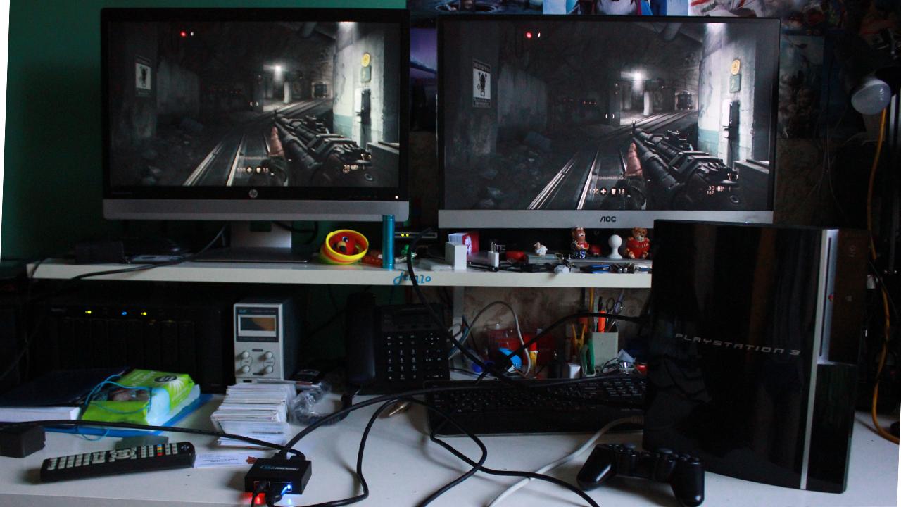 Вывод изображения с PS3 на 2 телевизора
