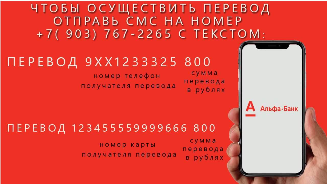 Перевод через смс Альфа банк